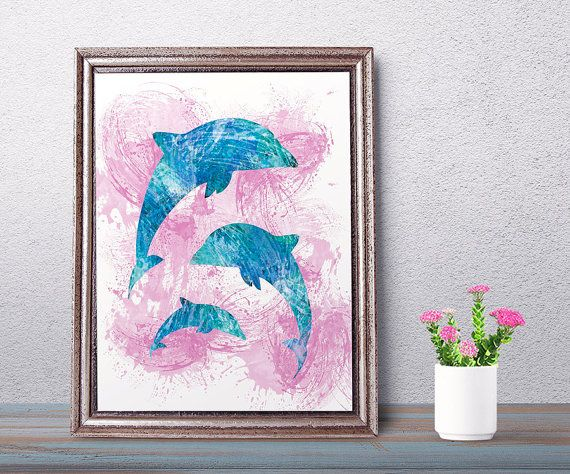 #Dolphin art dolphin art print dolphin #wallart di NeroliDesign