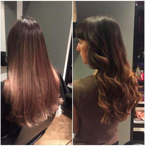 Sombre hair, włosy, loki, fale na włosach