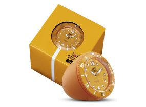 Lolliclock Rock Orange. The ultimate desk accessory or gift. 44mm, ABS Polycarbonite case + PC Rock backcover, 1ATM, PC21S movement. Buy online at www.lolliclock.com.au