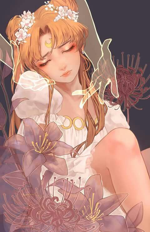 Wow! Beautiful Princess Serenity art work.<3   Source by;http://www.pixiv.net/member.php?id=9957384   by  ふわ   via:http://sailor-moon-rei.tumblr.com/