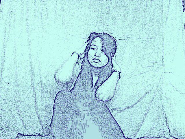 blue karikatur