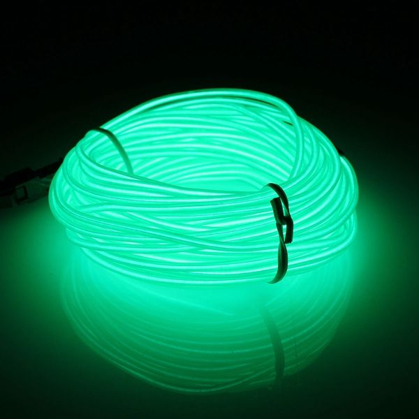 10m эль привело гибкой мягкой трубки провода неонового свечения автомобиля веревка полоса света Xmas декор 12 В постоянного тока