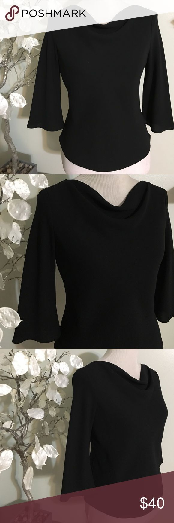 Donna Ricco Black Dress Capped Sleeve