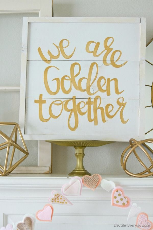 We are golden together cute quoe home decor idea!