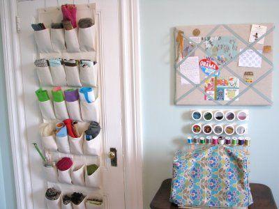 Fabric In Back Of Door Organizer