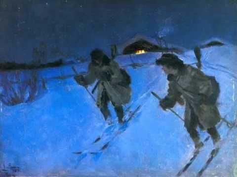 Ajopuut - Hyvä on hiihtäjän hiihdellä - Eino Leino sovitettuna musiikkiin. Teksti: http://runosto.net/eino-leino/hiihtajan-virsia/hyva-on-hiihtajan-hiihdella/