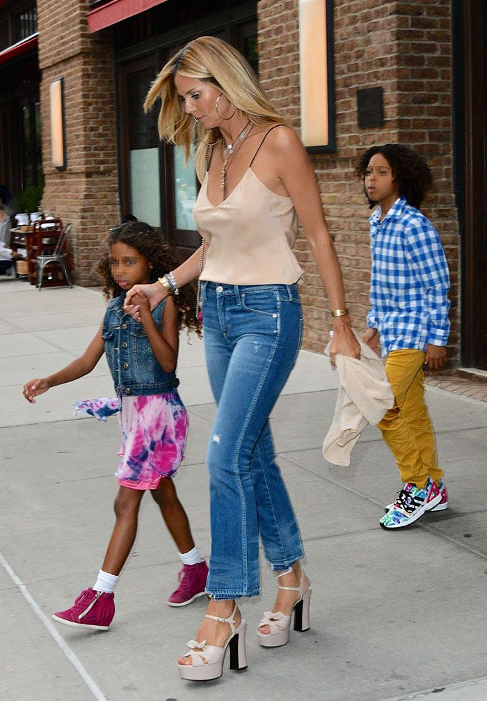 Heidi Klum steps out with her kids in New York City on July 19, 2016