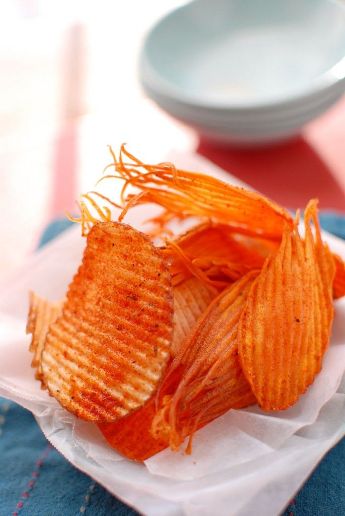 Never buy a bag of Ruffles again. Homemade chips are easy!