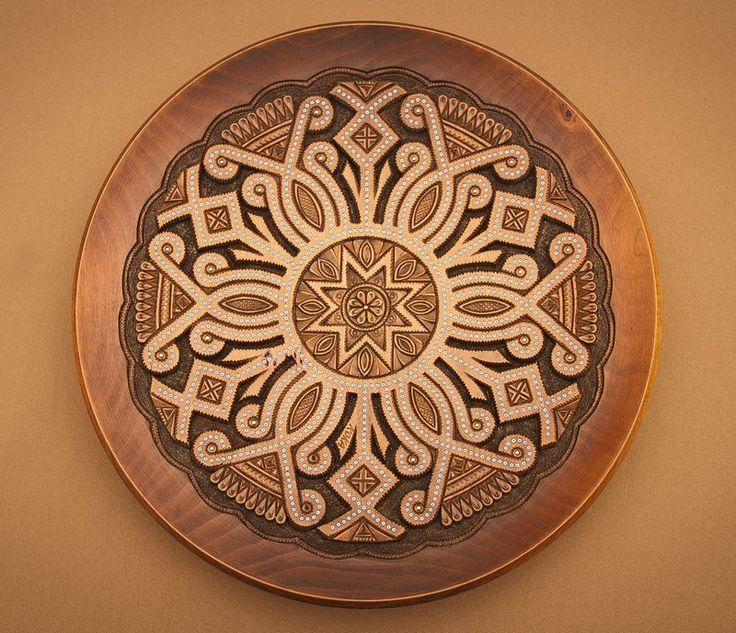 This large wall plate is made of wood. The decorative handmade plate will become a & 11 best Decorative wooden wall plates images on Pinterest | Wall ...