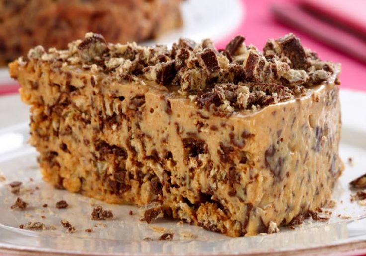 Torta de Bis, uma torta muito fácil de fazer e que leva apenas 3 ingredientes. Simples e rápida! Ingredientes 1 lata de leite condensado (tem que ser lata)