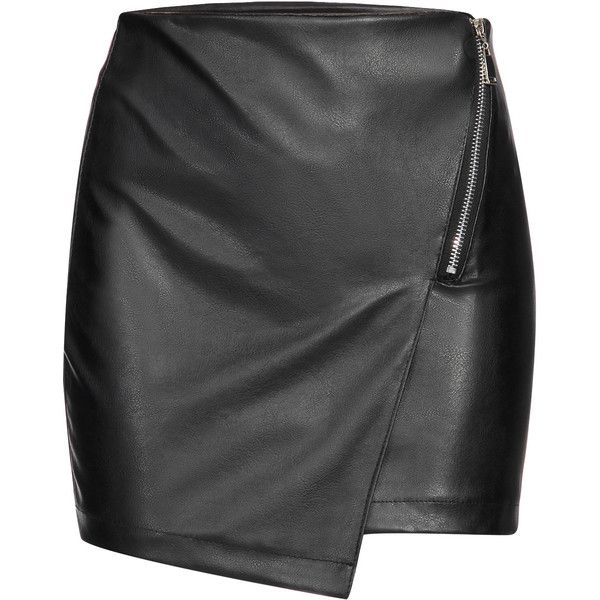 Yoins Black Leather Look Mini Skirt With Layered Design ($14) ❤ liked on Polyvore featuring skirts, mini skirts, black, imitation leather skirt, body con skirt, fake leather skirt, bodycon skirt and mini skirt