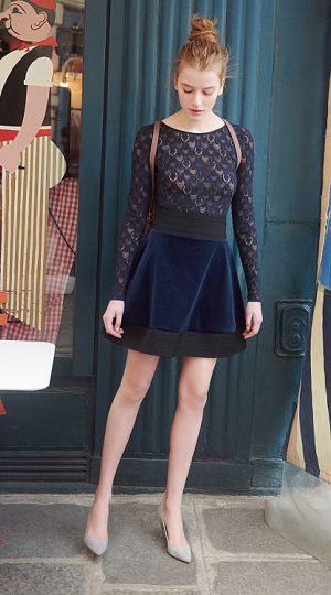 Wearing Clairemarie Skirt in cotton velvet by #Repetto - Collection fall-winter 2015  http://bit.ly/1LLDJ0k