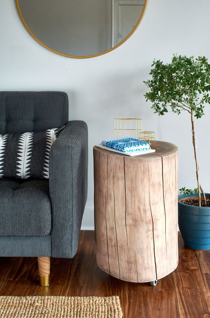 A Gorgeous Walnut Side Table - The Easy Way  @homedepot #sponsored