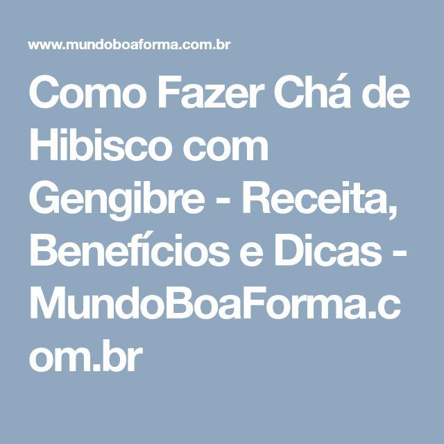 Como Fazer Chá de Hibisco com Gengibre - Receita, Benefícios e Dicas - MundoBoaForma.com.br