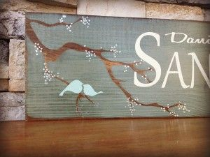 Bird Painted Sign Family - Painted Vintage