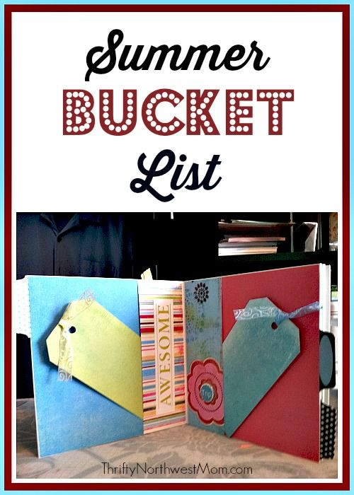 Make a Summer Bucket List of all the must-see & do activities for the summer. Print off our free printable for your bucket list.