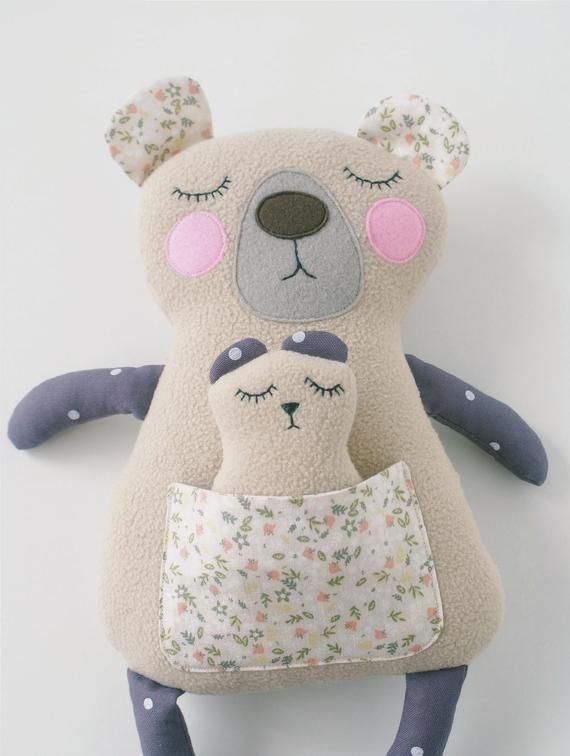 Bear sewing pattern Stuffed Animal patterns PDF Woodland animals Plushie pattern Animal Doll PDF Teddy Bear pattern for baby gift Bear Doll