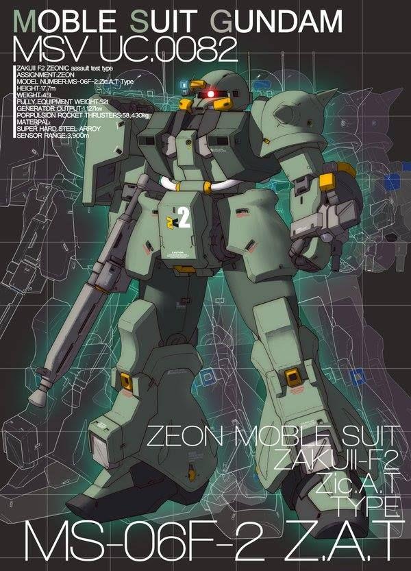 MS-06F-2 Z.A.T. Ke Yukikaze Art