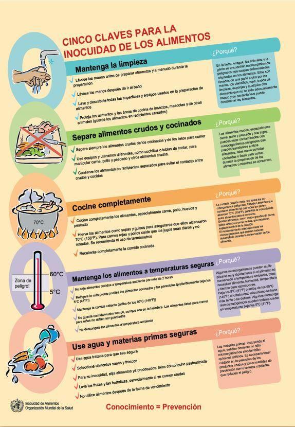 Manual sobre las cinco claves para la inocuidad de los alimentos: http://ow.ly/KG47t vía @WHO