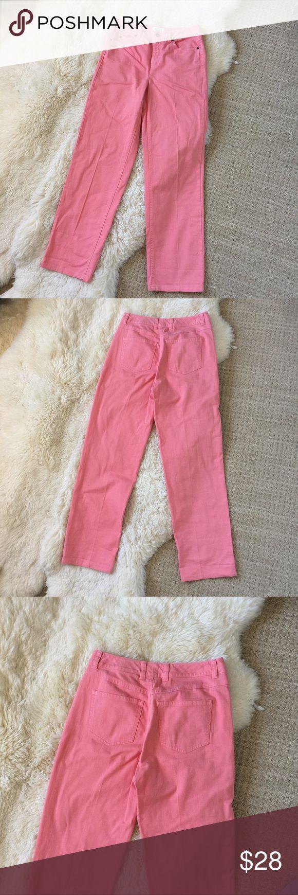 Talbots Coral Skinny Jean Pants Size 4 Talbots Stretch Skinny Pants Jeans. Coral. Cotton Spandex blend. Machine wash. Size 4. Talbots Pants