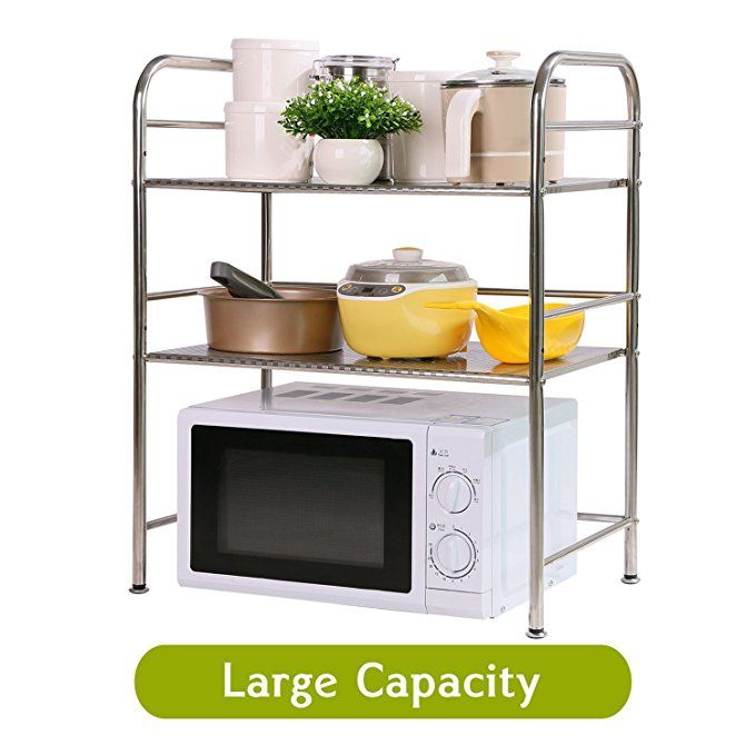 Xiantai 2 Tier Shelving Unit Kitchen Large Capacity Storage Rack