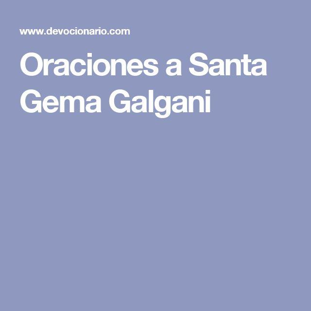 Oraciones a Santa Gema Galgani