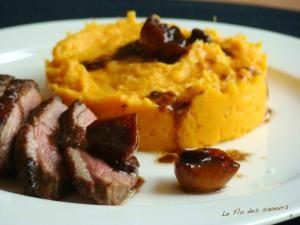Magrets de canard rôti aux agrumes et purée de patates douces à l'orange • Hellocoton.fr