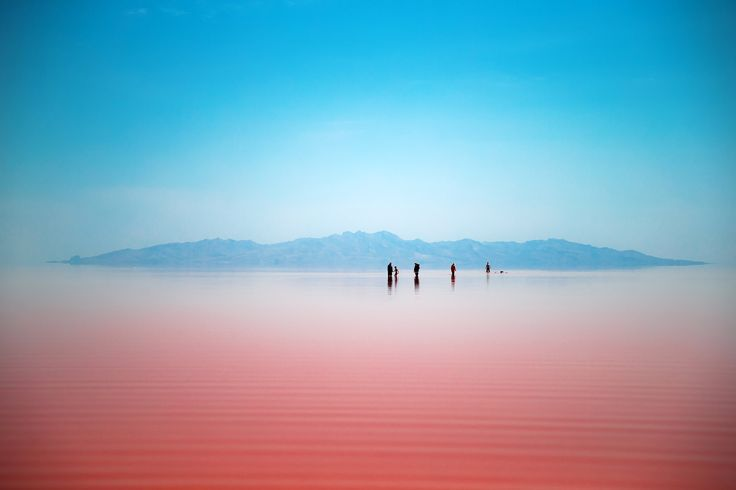 Lake Urmia is a salt lake situated in a national park in north-west Iran