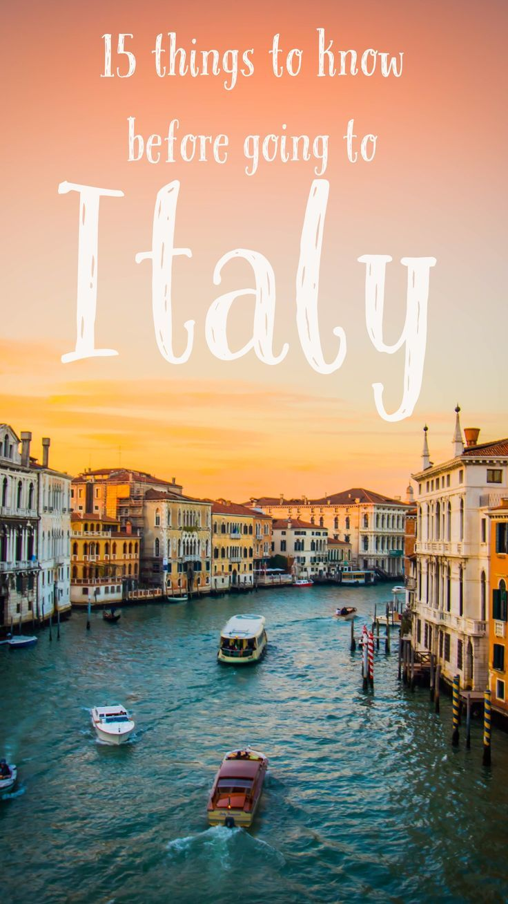 All the things you're going to want to know before you travel to Italy. Venice, Amalfi Coast, Positano, Sorrento, Rome, Naples, Florence! All those places are wonderful to travel to!