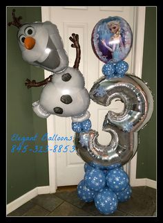Frozen 3rd birthday balloon delivery #frozenballoons