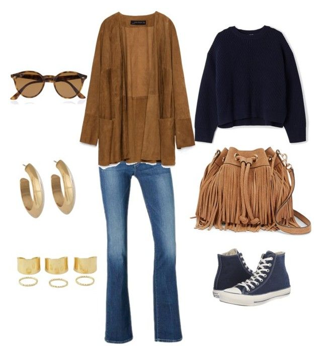 """outfit weekend"" by carolarepetto on Polyvore featuring Pepe Jeans London, Zara, Converse, Acne Studios, Ray-Ban, Rebecca Minkoff and House of Harlow 1960"