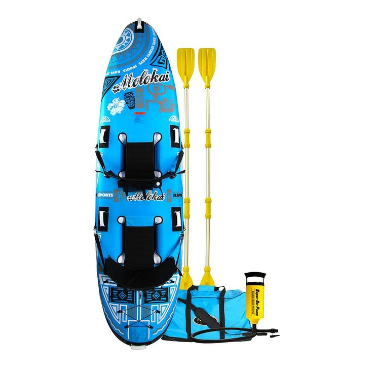 Rave Sports Molokai Inflatable 2-Person Kayak, Blue