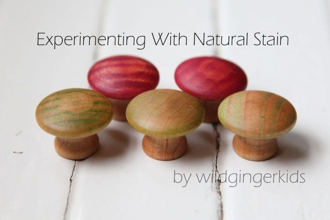 Natural Staining Experimenting With Natural Dyes