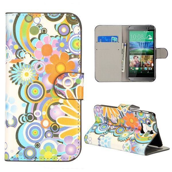 Powerflower bookcase hoesje voor HTC One M8