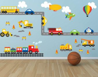 Car Decal Construction Wall Decal Plane Decal by YendoPrint