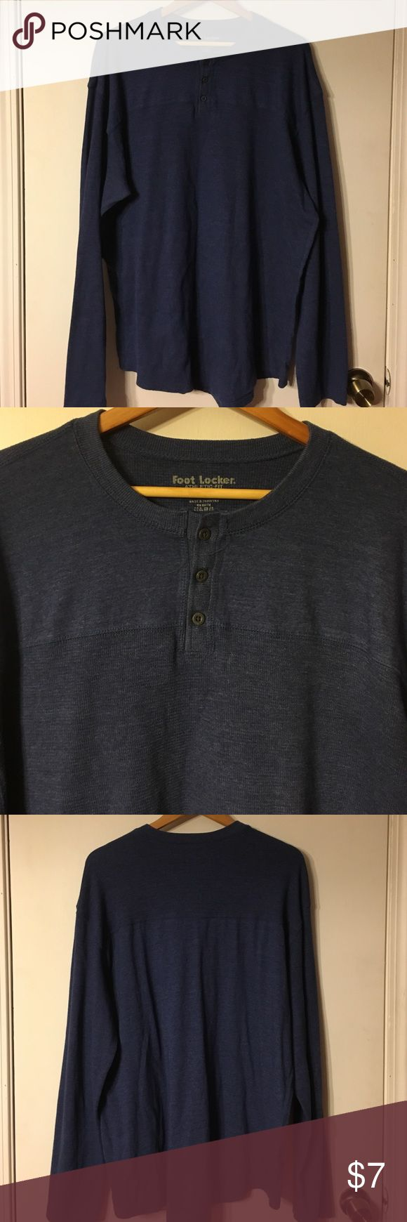 Footlocker men's blue Henley shirt Sz 3XL In excellent condition showing little to no wear footlocker Shirts Tees - Long Sleeve