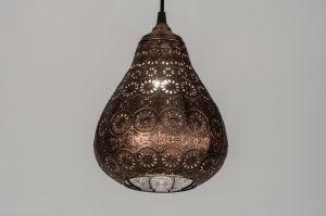 hanglamp 10435: klassiek, metaal, rond