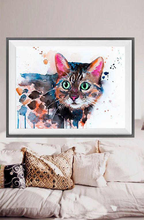 Acuarela de gato de Bengala pintura impresión, impresión, arte gato, acuarela animal, Ilustración animal, gato Ilustración, cartel gato, arte Arte de gato  Compro dos obtenga una gratis! ¡ Oferta especial! Comprar impresión dos y conseguir uno libre (del mismo tamaño). Mandame los links de los 3 carteles que hayas seleccionado en la sección de notas al vendedor Usted recibirá los tres grabados que se han seleccionado por el precio de 2.  Se trata de una impresión de mi pintura original…