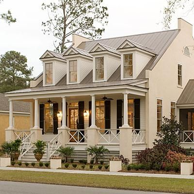 Eastover Cottage | The front porch is directly off the living areas providing ample opportunity to enjoy part of what makes living in the South so special – bringing the outdoors in. | SouthernLiving.com
