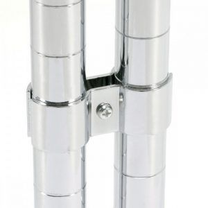 Chrome Wire Shelving Post Clamps