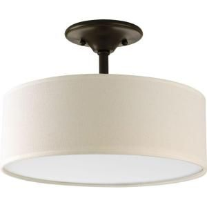 Progress Lighting, Inspire Collection 2-Light Antique Bronze Semi-Flush Mount, P3939-20 at The Home Depot - Mobile