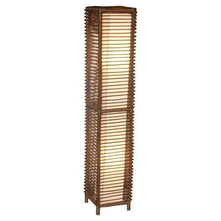 Illuminate The Living Room Or Home Office With This Lovely Rattan Floor Lamp,  Showcasing A