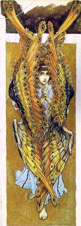 Виктор Михайлович Васнецов. Серафим со сложенными руками. Эскиз росписи Владимирского собора в Киеве 1896