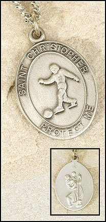 Boys Soccer Medal with St. Christopher, Antiqued Lead Free Pewter, Stainless Steel Chain GOF, http://www.amazon.com/dp/B005FNTC92/ref=cm_sw_r_pi_dp_flqKqb1EM6MTF