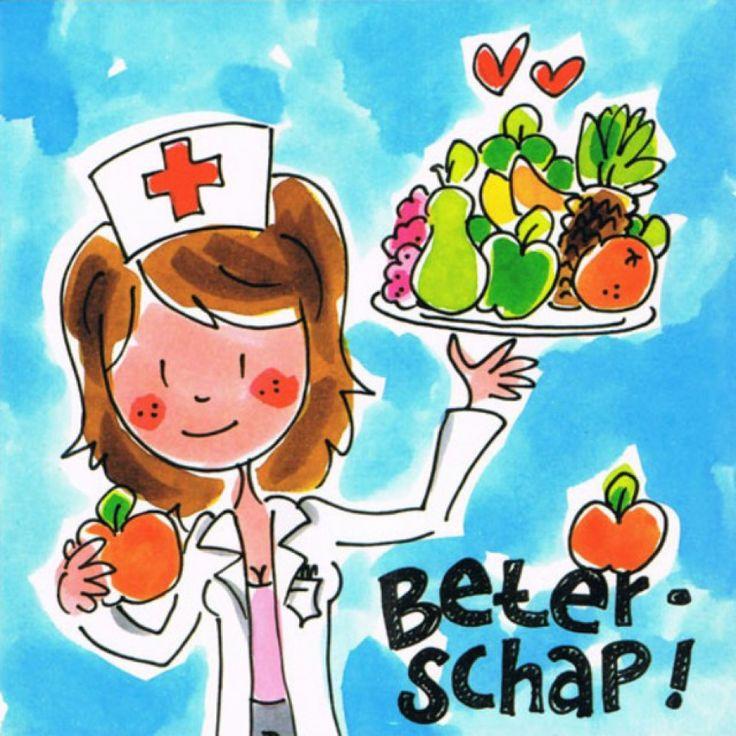 Blond Amsterdam Card Beterschap BL166 - € 2,50 - https://www.simplydutch.com/kiosk/get-well-soon/blond-amsterdam/4787/card-beterschap-bl166/