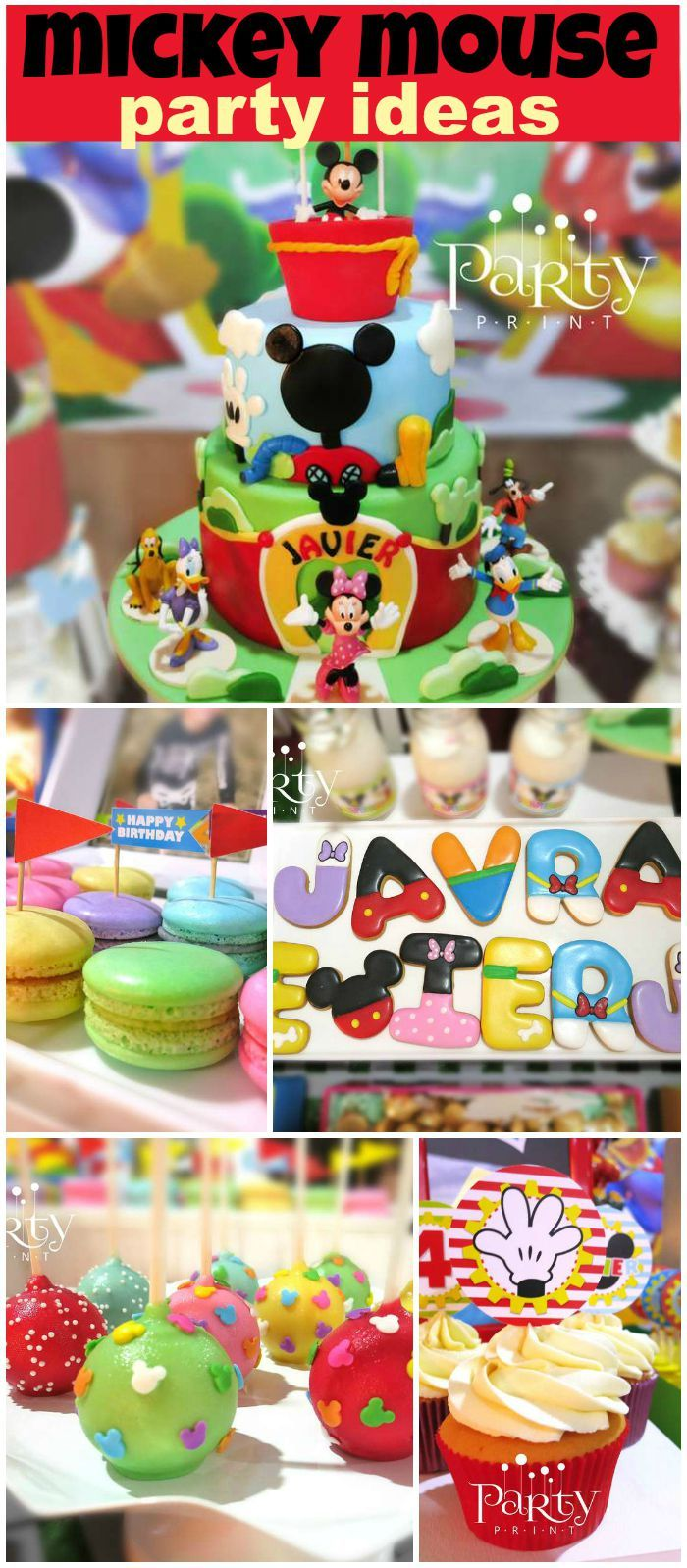 Very cool desserts at a Mickey Mouse Clubhouse party! See more party ideas at CatchMyParty.com!