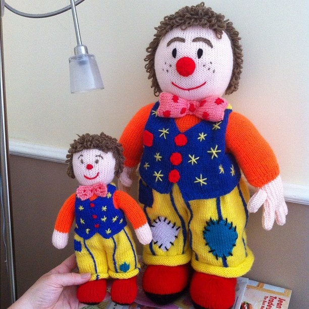 Mr Tumble knitted toys, created by @thewooliewitch Arty and Craft things ...