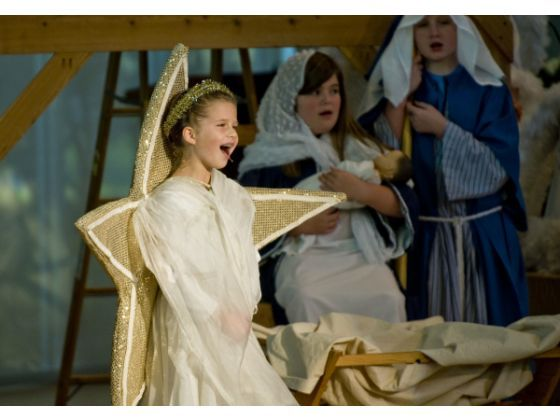 star costume - for church play, just the star behind her not the robe thing...