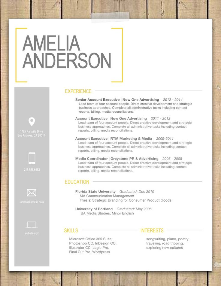 The 25+ best Word doc ideas on Pinterest Letter template word - resume template in word 2010
