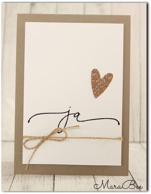 """Es ist """"nur"""" dieses einzige Wort mit nur zwei Buchstaben. Aber ist so voll von Bedeutung. Und irgendwie mag ich bei Karten auch eher das sc..."""